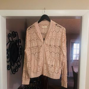 Pink lace cover jacket
